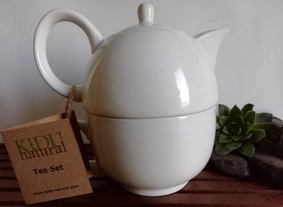 Porzellan Teekanne mit Tasse